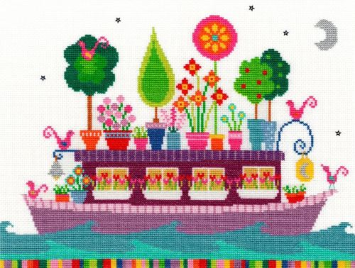 Funky Houseboat Cross Stitch