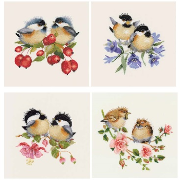 Chick-Chat Birds - Set of 4 by Valerie Pfeiffer
