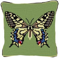 Swallowtail Butterfly Cross Stitch (printed canvas)