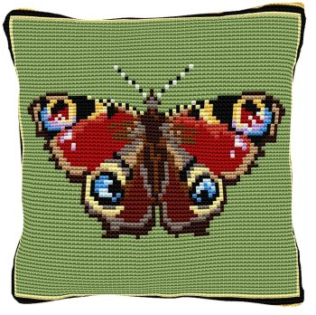 Peacock Butterfly Cross Stitch (printed canvas)