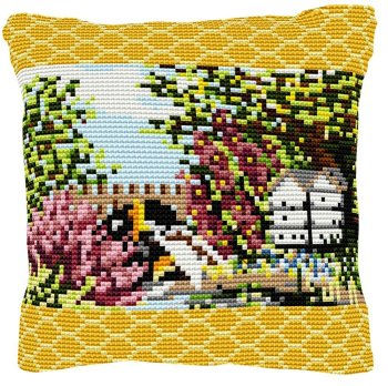 Beehive Cross Stitch (printed canvas)