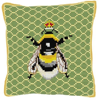 Bumble Bee Cross Stitch (printed canvas)