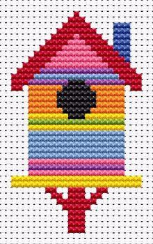 Birdhouse Cross Stitch - Sew Simple