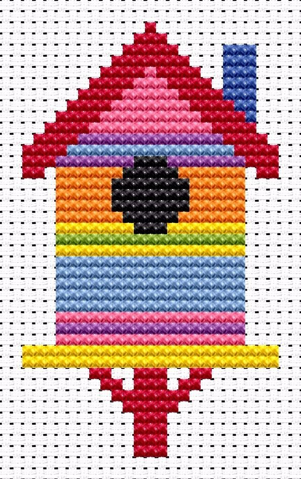 Birdhouse Cross Stitch - Sew Simple