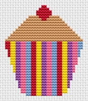 Striped Cupcake Cross Stitch - Sew Simple