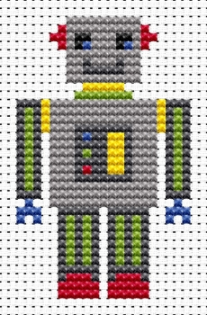 Robot Cross Stitch - Sew Simple