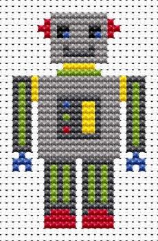 Robot Cross Stitch - Sew Simple