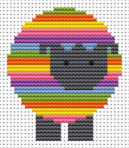 Sheep Cross Stitch - Sew Simple
