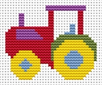 Tractor Cross Stitch - Sew Simple