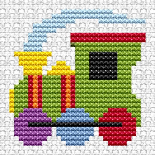 Train Cross Stitch - Sew Simple