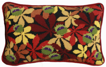 Black Conkers Lumbar Tapestry Kit