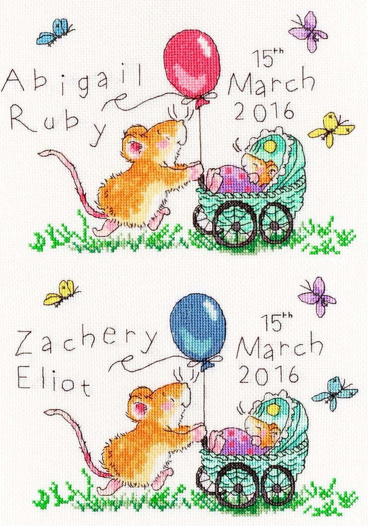 Squeaky Wheels - Margaret Sherry Birth Sampler