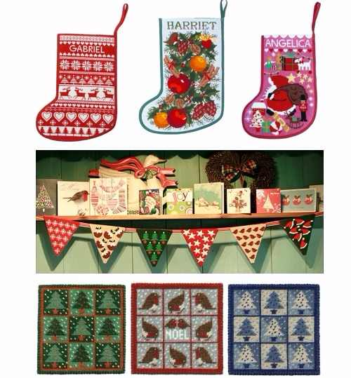 Christmas Tapestry Kits by One Off Needlework