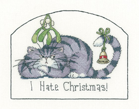 I Hate Christmas - Cat's Rule Cross Stitch