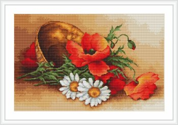 Wild Flowers Cross Stitch Kit by Luca-S