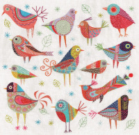 Bird Dance Embroidery Kit - Nancy Nicholson