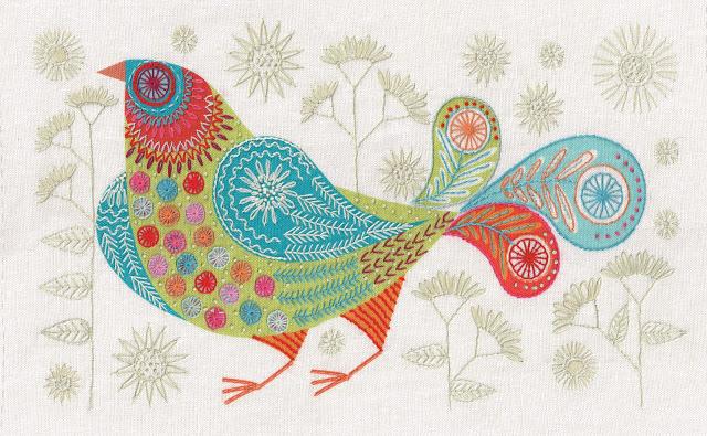 Nancy Nicholson Modern Bluebird Embroidery Kit