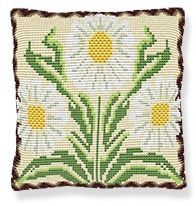 Daisies -  Cross Stitch Kit (printed canvas)
