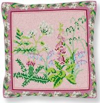 Wild Flowers - Cross Stitch Kit  (printed canvas)