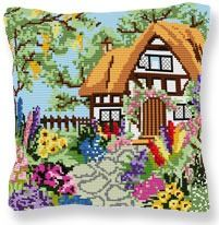 Summer Cottage - Cross Stitch Kit (printed canvas)