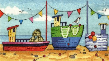 Boats Cross Stitch - Heritage Crafts