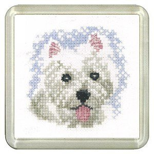 Westie Dog Coaster Kit