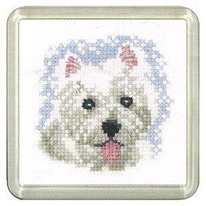 Westie Dog Coaster Kit