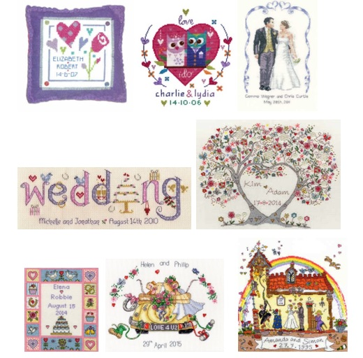 wedding cross stitch samplers