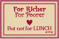For Richer For Poorer Tapestry (Plain Canvas)