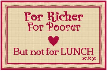 For Richer For Poorer Tapestry (Plain Canvas)