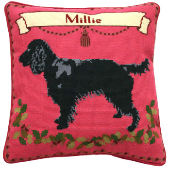Black Spaniel Tapestry Kit (Plain Canvas)