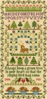 Green Tree - Moira Blackburn Cross Stitch