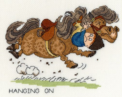 Hanging On - Thelwell Cross Stitch