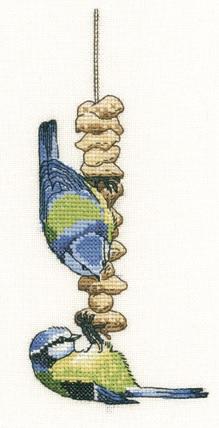 Blue Tits Cross Stitch