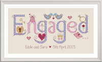 Engaged Sampler Kit - Nia Cross Stitch
