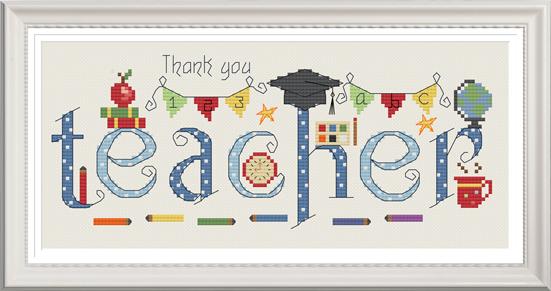 Thank You Teacher Sampler Kit - Nia Cross Stitch