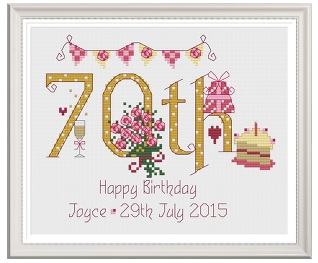 70th birthday sampler kit nia cross stitch