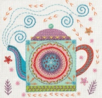 Teapot Embroidery Kit - Nancy Nicholson