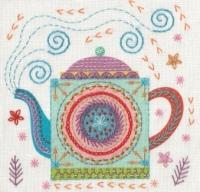 Teapot Embroidery Kit - Nancy Nicholson