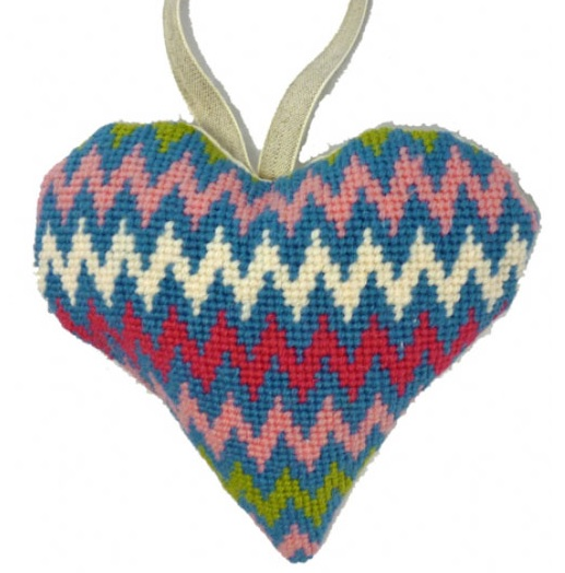 Bargello Lavender Heart Tapestry Kit - Cleopatra's Needle