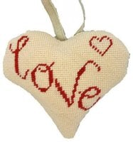 Love Lavender Heart Tapestry