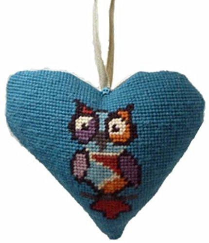 Funky Owl Lavender Heart Tapestry