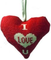I Love U Lavender Heart Tapestry (Buy 2 for £27)