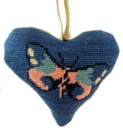 Butterfly Lavender Heart Tapestry