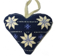 Scandanavian Lavender Heart Tapestry (Buy 2 for £27)
