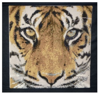 Bengal Tiger Charted Tapestry - Plain Canvas
