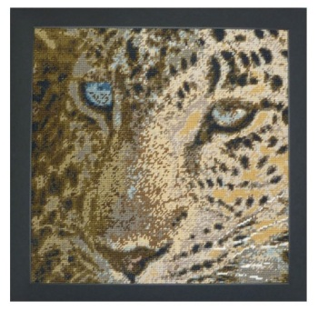 Leopard Charted Tapestry - Plain Canvas