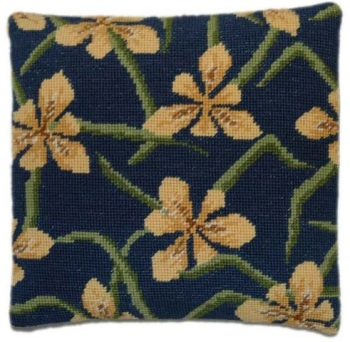 Yellow Iris Herb Pillow Tapestry
