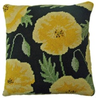 Yellow Poppy Herb Pillow Tapestry