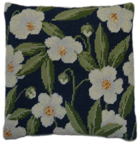 Christmas Rose Herb Pillow Tapestry